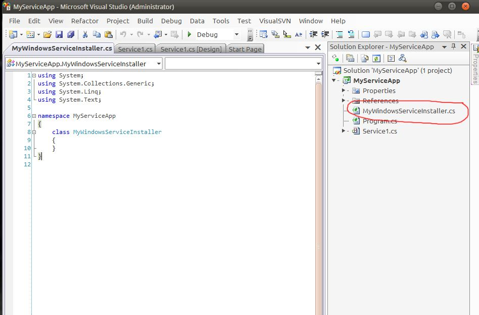 How to create a simple Windows Service in C# and Install it