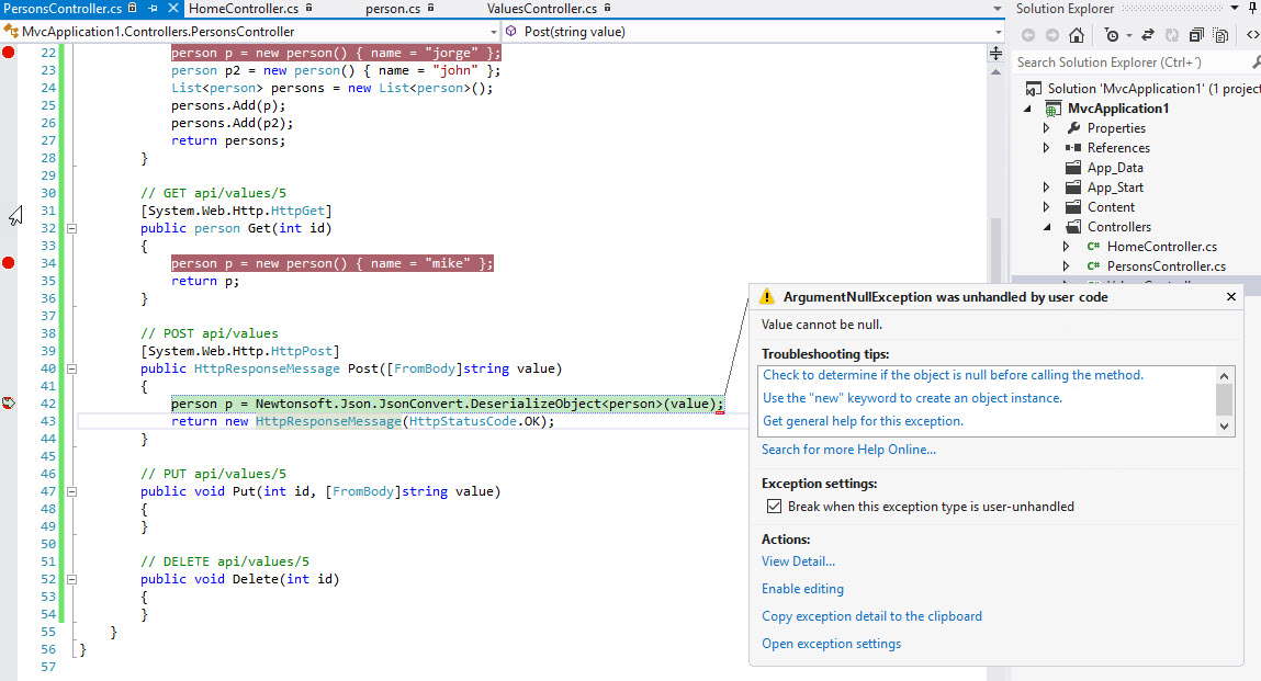 asp net web api - FromBody Value cannot be null