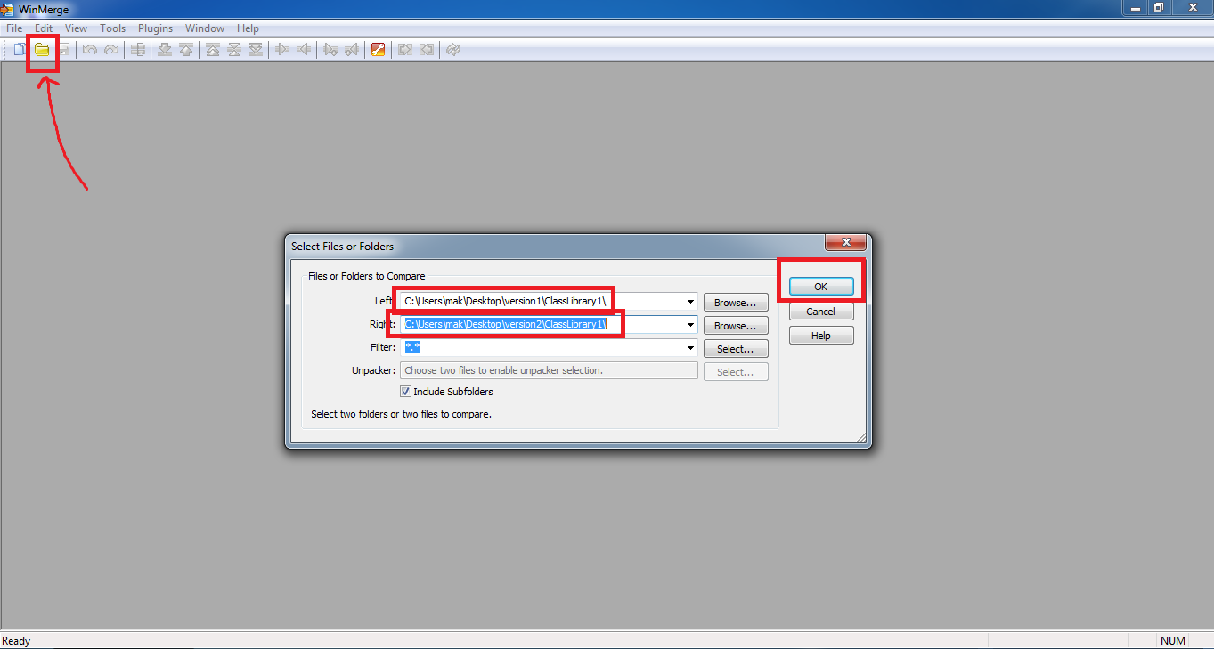 How to compare two  net dlls assemblies files using dotpeek